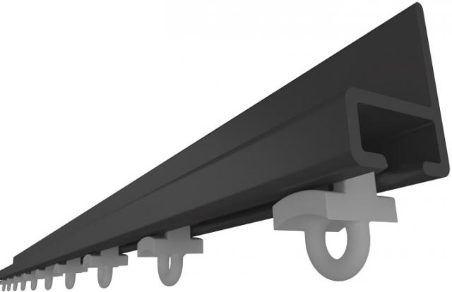 U rail with flange for wall mount