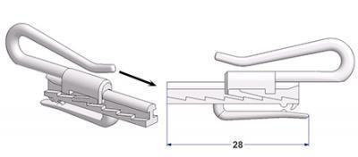 Adjustable curtain hook lugano