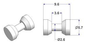 Cylindrical roller d 5,7 mm