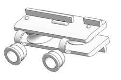 Guia cordón de accionamiento con casquillos de inserción para agujero d 8,5 mm