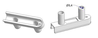 Guia cordón de accionamiento doble d 9 mm