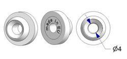 Button bracket for wall mount -U- rail