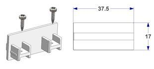 End cap for 2 way profile, with screws