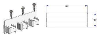 End cap for 3 way profile, with screws