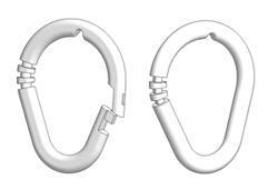 Asymmetric ring 55x45 mm open-closed
