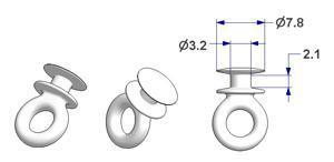 Scorrevole tondo nucleo d 3,3 mm, per binario -U-