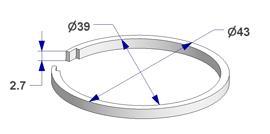 Anillo silenciador d 39x43 mm