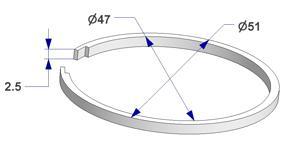 Anillo silenciador d 47x51 mm