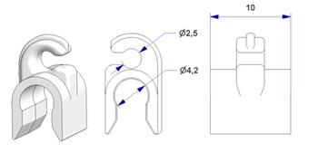 -Y- clip d 4 mm