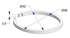 Anillo silenciador d 42x46 mm