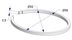 Anillo silenciador d 52x56 mm