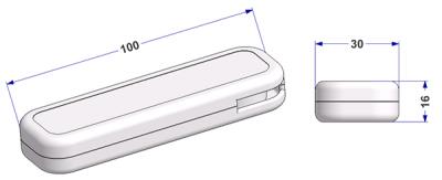Rectangular cord weight 16x30x100 mm, 60 g