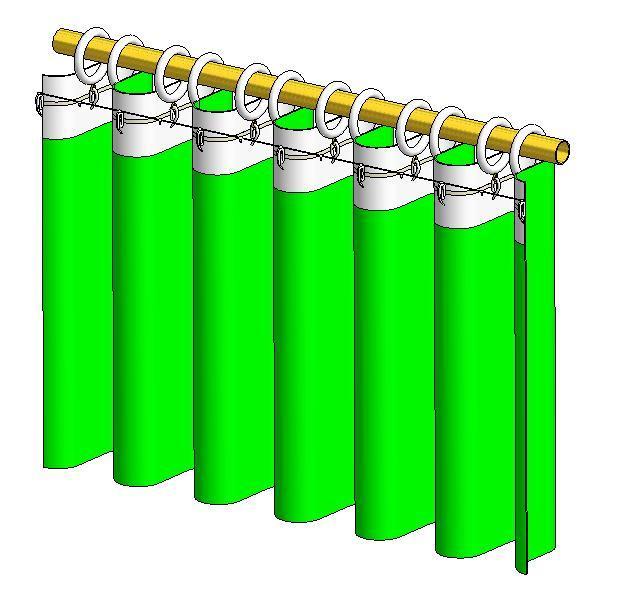 bastone scorritenda decorativo riloga tende tendaggi anelli metallo effetto decorazione onda wave tringle rideaux rideau decorative anneau anneaux metal effet vagues gordijn roede ringen metaal wave effect atp