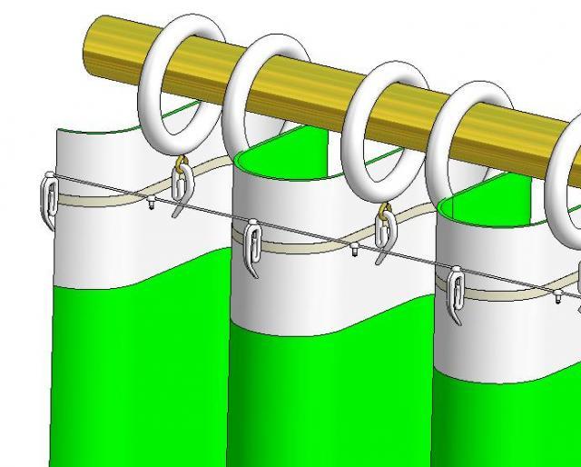 gardinen stangen stang vorhang stangen stang ringe metall stil garnituren garnitur perfekte wellen wellen dekoration  decoratieve gordijn roede roedes roeden ringen gordijnen wave effect ophang systemen